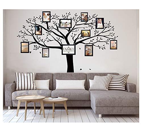 LUCKKYY Vinilo Gigante Bdecoll PVC, Negro, Adhesivo de Pared, árbol, Rama de Vinilo con Fotos, Extraíbles