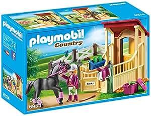 Playmobil Boîte avec cavalière et Pur-Sang Arabe, 6934