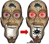 Totenkopf Türklingel mit gruseliger Stimme + leuchtenden Augen Halloween