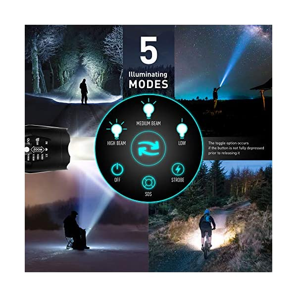essence' Multi Tool Pliers & Led Tactical Torch Set - Bright Powerful Zoom Focus Flashlight - 15in1 Stainless Steel Portable Pocket Multi-tool - Perfect Hand Tools for Camping DIY Outdoor Survival Kit 4