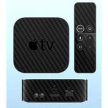 GADGETS WRAP Apple TV Set Top Box & Remote Transparent Carbon Skin