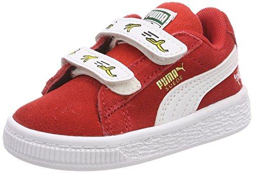 Puma Minions Suede V Inf, Zapatillas Unisex Niños, Rojo (High Risk Red-Puma...