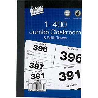 Book of 1 - 400 Cloakroom / Raffle Tickets also ideal for Tombolas etc.