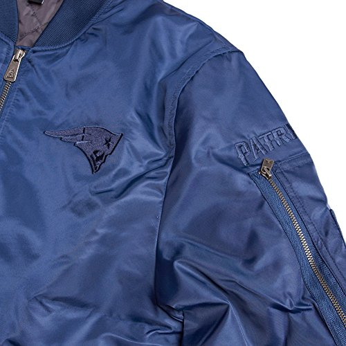 new era NFL BOMBER JACKET NEW ENGLAND PATRIOTS Blau