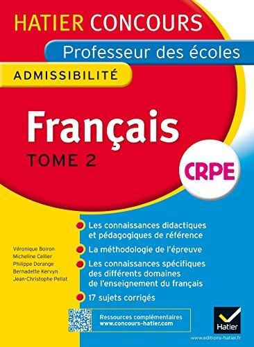 Hatier Concours - Professeur Des Ecoles - Admissibilite: Francais by Veronique Boiron (2014-07-16)