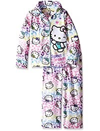 Komar Kids Juego de pijama para niñas mayores, motivo Hello Kitty. - Blanco -