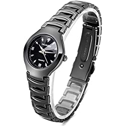Fashion Alloy Strap Quartz Wristwatch For Women,Black