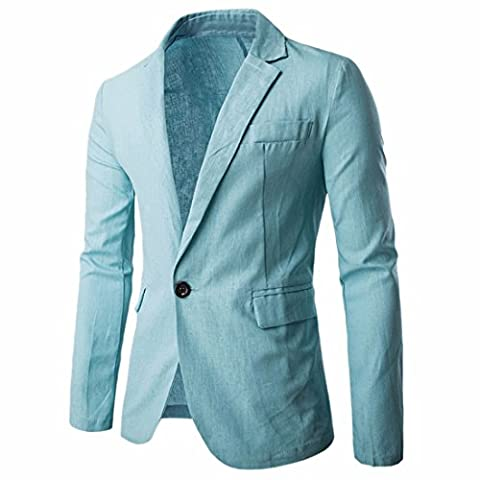 Ai.Moichien Men's Tailored Fit Premium Linen Blazer Jackets Casual Suit