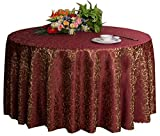 Hochzeiten Bankette Hotels Tischtennis Zubehör Runde Tischdecken 220 * 220CM (Weinrot)