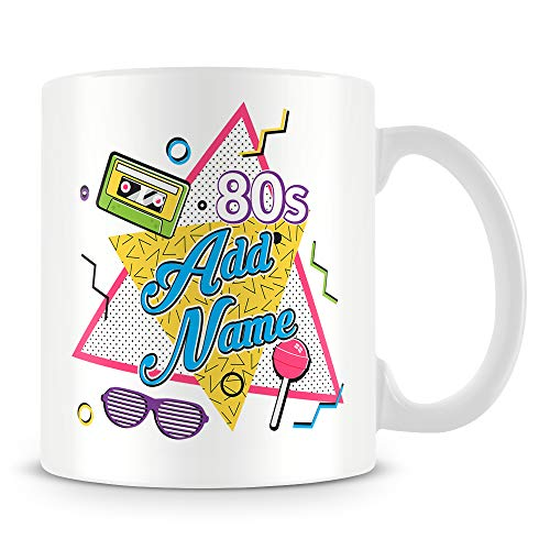1980s Graphics Personlised Mug - Customise with any name