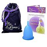 Me Luna Coupe menstruelle Classic, manche, bleu, Taille M