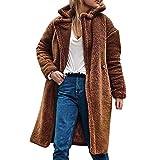 Beladla abrigo Mujer Invierno Elegantes Mujeres De Invierno De Lana CáLida BotóN Abrigo con Capucha SuéTer Abrigo De AlgodóN Outwear
