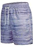 Occulto Herren Männer Badehose in vielen Farben   Badeshort   Bermuda Shorts   Beachshort   Slim Fit   Schwimmhose   Boardshort   Jungen (S, Navy)