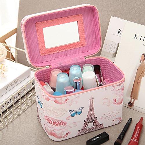 Kosmetiktasche Koreanischen mobile Tragbare kosmetische Box in Storage Box Professional mit hoher Kapazität bag portable Eitelkeit Paket, schmetterling Tower, Barrierefrei (Storage Tower Box)