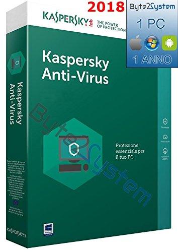 Kaspersky Antivirus 2018 - 1 PC - 1 Anno - ESD - Digital Code