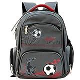 Rucksack für Grundschule Jungen, Kinder Schultaschen für Jungen Teen Rucksäcke Wasserdichte Kinderrucksäcke, personalisierte Patten Umhängetasche für Reisen Wandern (Ideal für 1-6 Grad) - Fußball