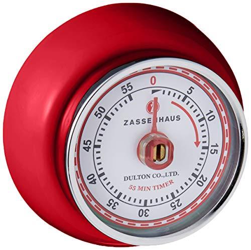 Zassenhaus 0000072327 Timer Speed, Edelstahl, rot, 7 x 7 x 3 cm