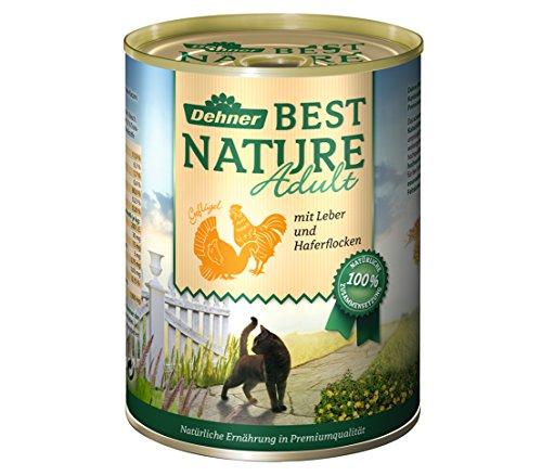 Dehner Best Nature Katzenfutter Adult Geflügel und Leber, 6 x 400 g