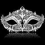 RXBC2011 Máscaras de Disfraces de Medianoche venecianas en Diamantes Negros para Hombre o Mujer