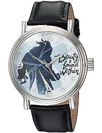 Disney Men's 'Beauty' Quartz Metal Casual Watch, Color:Black (Model: WDS000309)