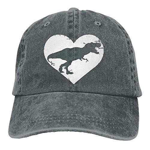 Denim Baseball Cap Lustige süße T Rex Dinosaurier Herz Männer Golf Hüte verstellbare Baseball-Mütze