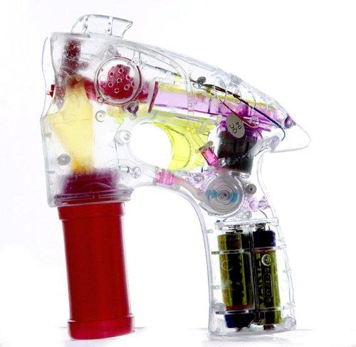 SEIFENBLASEN-PISTOLE mit Licht - inkl. 50ml Flasche Seifenblasen