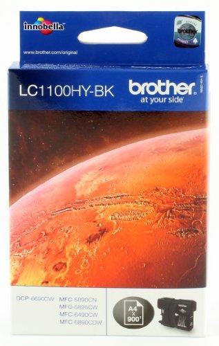 Brother Original Jumbo-Tintenpatrone LC-1100HYBK schwarz (für Brother DCP-6690CW, MFC-5890CN, MFC-5895CW, MFC-6490CW, MFC-6890CDW)
