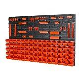 Prosperplast Haken mit Behältern IN-Box Farbe: orange Gr.1 Wandregal, Set aus 75