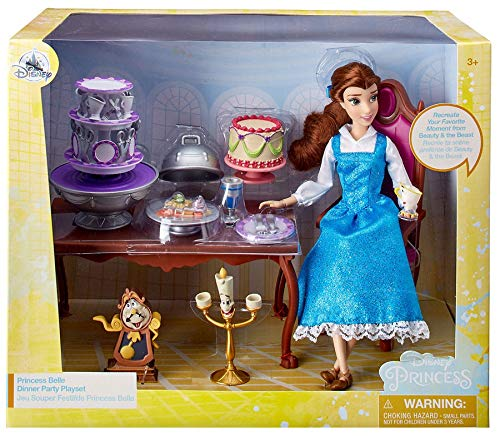 Disney Belle Classic Doll Dinner Party Play Set -