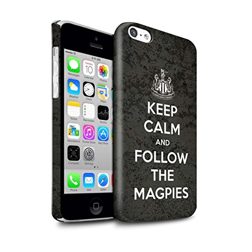 Offiziell Newcastle United FC Hülle / Glanz Snap-On Case für Apple iPhone 5C / Pack 7pcs Muster / NUFC Keep Calm Kollektion Folgen/Magpies