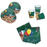 Lively Moments 8 Pappteller, 20 Servietten & 8 Pappbecher zur Einschulung / 1. Schultag Dekoration / Partydekoration