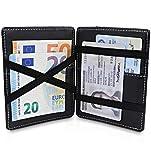 TRAVANDO  Magic Wallet mit Münzfach Vegas Geldbörse Herren klein Slim Portemonnaie Mini Wallets for Men Geldbeutel Männer dünn Portmonee Brieftasche Geschenk Kreditkartenetui Portmonaise Portmonai