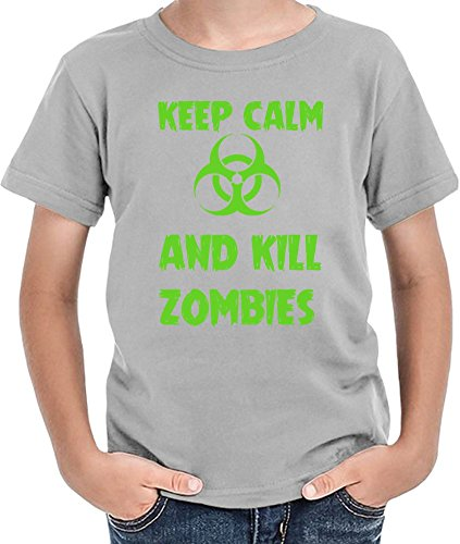Keep Calm And Kill Zombies T-shirt per ragazzi 12+ yrs
