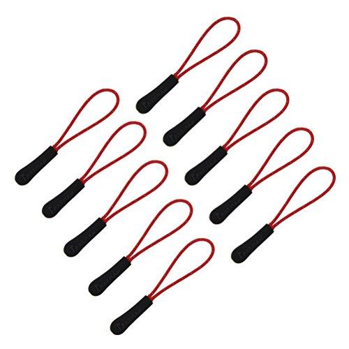 UEETEK 10ST Outdoor Sport Reißverschluss Zipper Pull Zipper Erweiterung Zip Slider Ersatzr (rot) (Slider-storage-taschen)