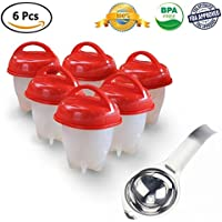 As Seen On TV:Egg Cooker Hard & Soft Maker,BPA Free, Non Stick Silicone, No Shell,Silicone Eggs Maker without the Shell (6 Pack)