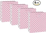 Large Light Pink Polka Dot Gift Bag (4 bags)