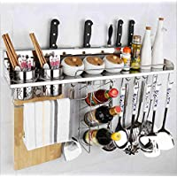 LINGHOU parete della cucina rack portautensili torretta cucina in acciaio