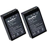 MaximalPower Batterie de remplacement pour Olympus BLS - 1 Nikon E-PL1/E P3/E PL3/E-P1/P2–E/E/E 450–620 Caméra (Lot de 2)