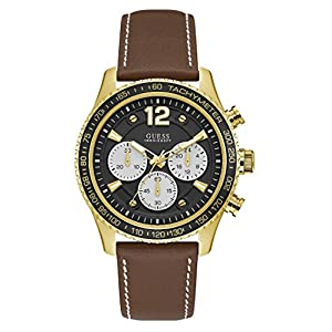 Guess Reloj Cronógrafo para Hombre de Cuarzo con Correa en Cuero W0970G2
