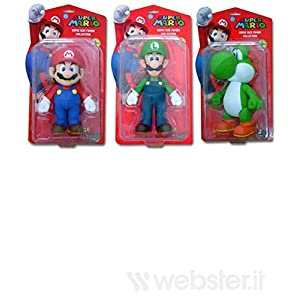 BG Games Mario Action Figures - FiFiguras de acción y colleccionables (Multicolor, 3 año(s), 4 Pieza(s), 230 mm) 3