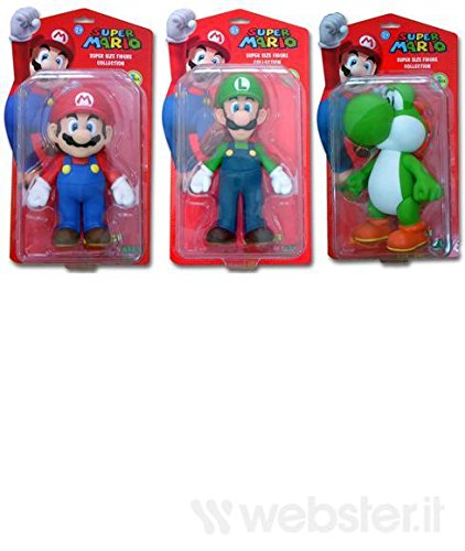 Action Figure Super Mario 23cm, un personaggio [Importación italiana]