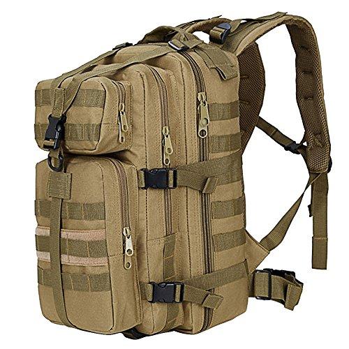 35l grande capacità espandibile outdoor militare tattico zaino da viaggio, trekking, campeggio, trekking arrampicata caccia di borsa cachi