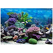 perfk Pegatina de Tanque de Peces Duradero Flexible Ajustable Cómodo de Usar - Coral S