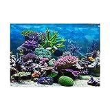 B Blesiya Aquarium Hintergrund Poster Aufkleber Wand Dekor - Korallen, L