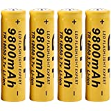 Rechargeables,OVERMAL 4Pcs 3.7V 18650 9800Mah Batterie Rechargeable Li-Ion Pour Lampe Torche Led