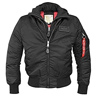 ALPHA INDUSTRIES MA-1 D-TEC FLIGHT JACKET - negro/negro, Large