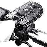 Fahrradbeleuchtung,Teorder Led Fahrradbeleuchtung Set USB(LED Fahrradlicht Front / Fahrrad Frontlicht / Fahrradscheinwerfer / Fahrradleuchte / Fahrradlampen / Bike Light / Bicycle Lights), Led fahrradbeleuchtung Wasserdicht, Wiederaufladbare led Cree XML2, aufladbar 2000mAh batterie,1000 lumen led fahrradlicht, 4 Licht-Modi Set, Touch-Dimmung Schalter, mit Montagewinkel zubehör & 1xUSB-Aufladbare-Kabel,Schwarz