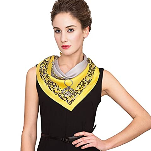 IRRANI Silk Scarves For Women Neckerchief Mulberry Small Square Twill Weave Scarf Headscarf For Hair