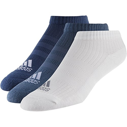 adidas 3S Performance Half Cushioned No-Show (3 Pairs Pack) Socken, Noble Indigo s18/White/Raw Steel s18, 3134 (3-pair Pack White)