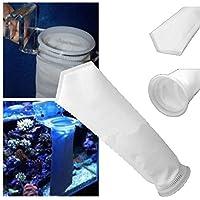 samLIKE 200 Micron Aquarium Riff Fisch Tank Marine Sump Filter Sock Bag Divine (Schwarz)